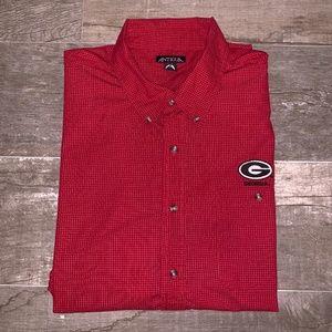 UGA Gameday Button-up LS Shirt